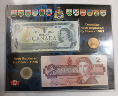 PAPER MONEY CANADA UNCIRCULATED MIXED DOLLAR COIN /& BILL SET TOONIE LOONIE
