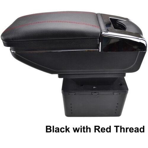 For Opel Astra Corsa Mokka Car Armrest Arm Rest Rotatable Storage Box Black