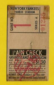 1963-Mickey-MANTLE-OPENING-Day-HR-406-Vintage-Baseball-Ticket-Stub-NY-Yankees-1