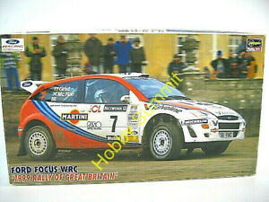 DIscountinued  1/24  FORD FOCUS WRC  1999 Britian Rally  w/ P-E  Hasegawa Kit