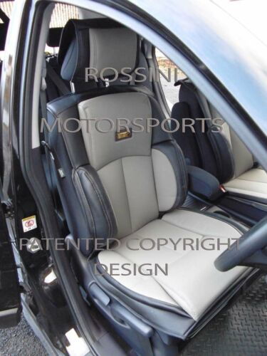 SEAT COVERS YS01 ROSSINI GREY//BLACK TO FIT A PEUGEOT 5008 CAR 2 FRONTS