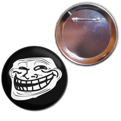 Choice 25mm//55mm//77mm Novelty Fun BadgeBeast Button Badge Troll Face