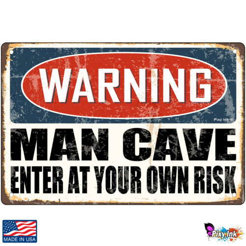 Warning Man Cave Enter at Your Own Risk Decorative Signs /& Plaques