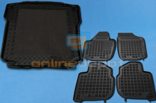 Gummi-Fußmatten+Kofferraumwanne SKODA RAPID LIFTBACK ab 2012