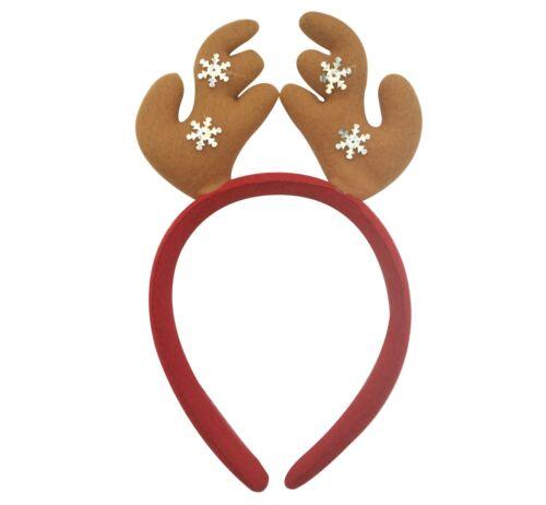 NUOVO Natale Babbo Natale Pupazzo di Neve Renna Soft Head Band Costume Bambini Festa Uk