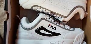 FILA-Disruptor-II-MEN-039-S-TRAINER-dimensioni-10-EU-44-Bianco-Nuovo-di-zecca-in-scatola