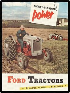 """FORD TRACTORS MONEY MAKING POWER 9/"""" x 12/"""" ALUMINUM SIGN"""