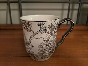 222-Fifth-Adelaide-Pink-and-Silver-Birds-Fine-China-Coffee-Mug-EUC