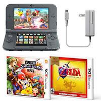 Nintendo 3DS XL Handheld System + Super Smash Bros + Zelda Ocarina