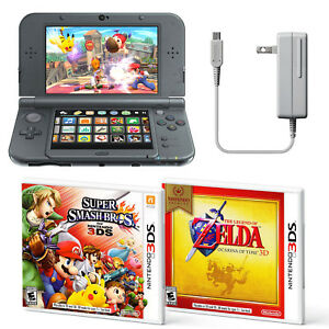 NEW-Nintendo-3DS-XL-Handheld-System-Super-Smash-Bros-and-Zelda-Ocarina-Bundle