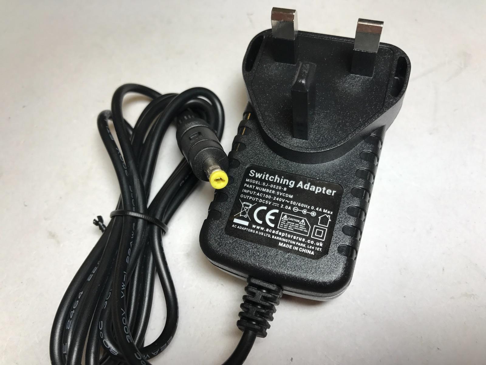 5V 2.0A 2A 2000mA AC-DC Switching Adaptor Power Supply 4.75x1.75 4.75mmx1.75mm