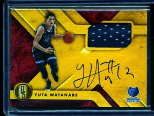 sale retailer 249f6 bab32 Details about YUTA WATANABE 2018-19 Panini Chronicles Gold Standard Jersey  Auto Red Rookie RC