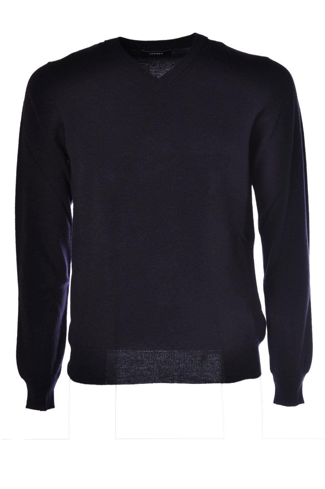 Alpha - Knitwear-Sweaters - Man - bluee - 481715C183804