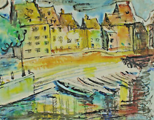 Signed-Mary-Karia-Luz-Ruland-City-View-With-Boats