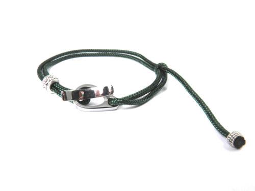 Frauen-Männer /& Kinder Armband-Edelstahl-Surfer Armband-Paracord Typ I-Verstellb
