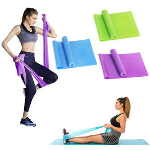 Yoga Stretch Resistance Band Fitness 150cm Ballet Pilates Workout Gym Exercise Ebay