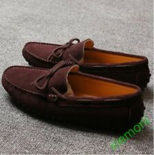 de40ca15e7a048 Fashion Loafers Gommino Moccasins suede Mens casual Driving slip ons boat  Shoes