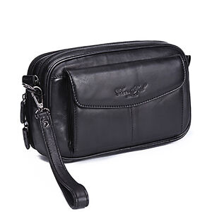 100-Genuine-Leather-Men-Clutch-Bag-Cell-Phone-Case-Small-Handbag-Purse-Wallet