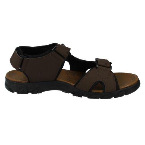 Mens Black//Brown Maverick Open Toe Sandals A0R041