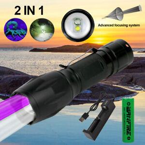 White-amp-UV-Flashlight-Black-Light-Ultraviolet-LED-Pet-Urine-Stains-Detector-Zoom