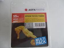 ORIGINAL AGFA Epson Tinta Set T0715/T0895 Lápiz táctil S20 S21 SX-100 SX215