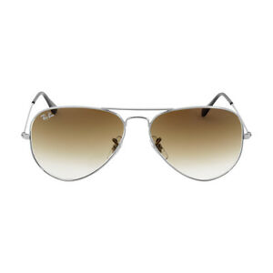 Ray-Ban Aviator Metal Frame Light Brown Gradient Lens Sunglasses RB3025
