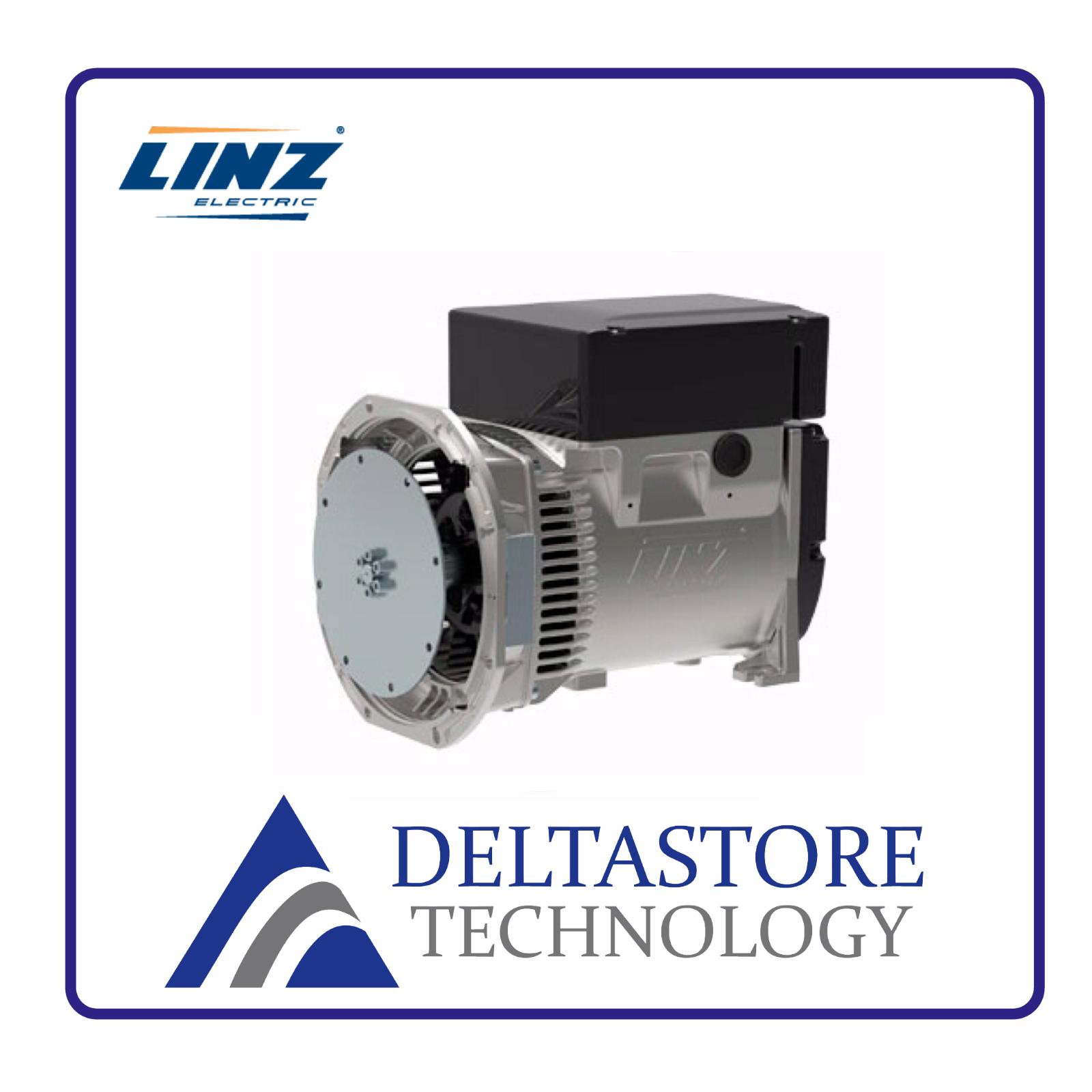 ALTERNATORE MONOFASE LINZ E1C13/4 DA 5.5 A 12.5 kVA 4 POLI 1500 FLANGIA A SCELTA