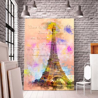 Paris 4L Bild auf Leinwand Bilder Kunstdruck Wandbild Poster