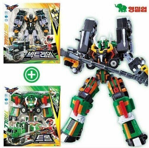 Tobot V BIGTROLL Intergration Troll with Bigtrail Transformer Robots Figures_NS
