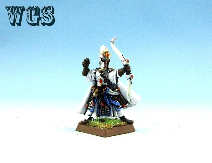 25mm Warhammer WGS Painted High Elf Noble with lungobow  HE015  alta qualità