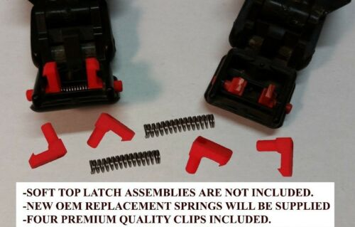 Geo tracker Soft Top Clip Retainers for Latch Assembly Complete Kit with Springs