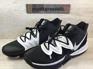 Men-s-Nike-Kyrie-Irving-5-TB-Basketball-Shoes-Black-White-CN9519-002-Size-14