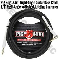 Pig Hog 18.5' Foot Ft 1/4 Ra Right Angle Guitar Instrument Cable Ph186r Pighog