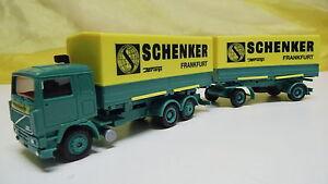 Herpa-187633-volvo-f12-Schenker-Frankfurt-evacue-h0-1-87-DJ-75-como-nuevo-en-el-embalaje-original