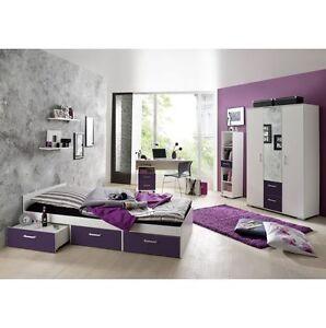 Jugendzimmer komplett Schreibtisch Bett Kinderzimmer Jugendbett ...
