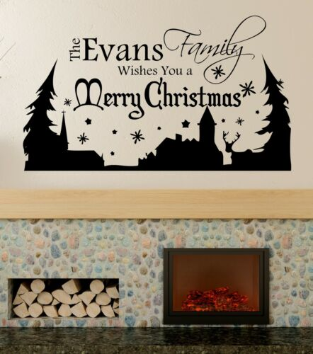 Window Sticker,Bedroom Christmas Personalised Wall Art Decal,Graphic lv90