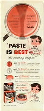 1958 vintage AD, TWINKLE Copper Cleaner, no waste with paste!  -091713