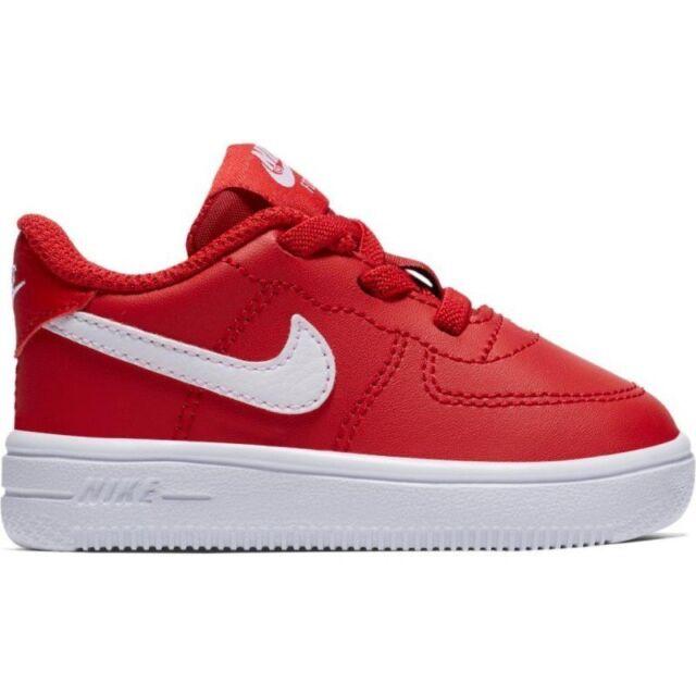 36c8b2a3aec64 Scarpe sportive bimbo bimba Nike Air Force 1 TD 905220 601 rosso-bianco  pelle