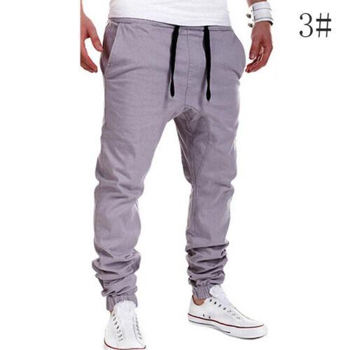 Herren Jogger Chino Hosen Freizeit Sports Jeans Jogginghose-Haremshose-Gr.M J3I6