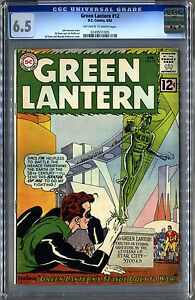 Green Lantern #12 (DC, 1962) CGC 6.5, OW/W Pages! Gil Kane Cover!