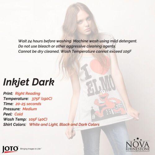 "50 Sheets For Dark fabric New Inkjet Iron-On Heat Transfer Paper 8.5/"" x 11/"""