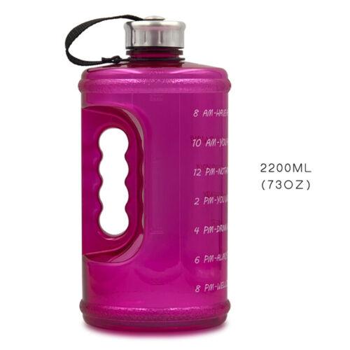 2200ml Tragbare Wasserflasche Outdoor Sport Trinken Radfahren Wandern