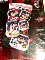 Bucilla Frosty snowman Family Christmas Felt Stocking Kit Sterilized