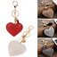 Heart-Crystal-Rhinestone-Pendant-Handbag-Charm-Keychain-Bag-Keyring-Key-Chain-hs