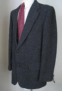 Woodward Sport Coat 44XL 44L Blazer Black Tweed Knot Buttons NWT ...