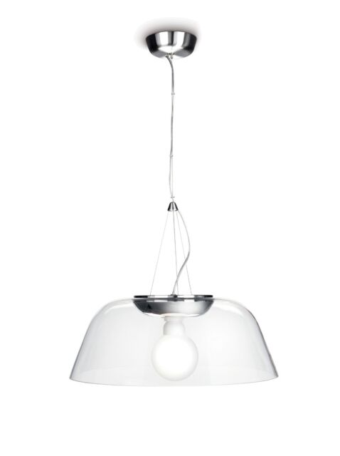 Stylish Philips Lighting InStyle Chrome Glass Suspension ceiling pendant 50% off