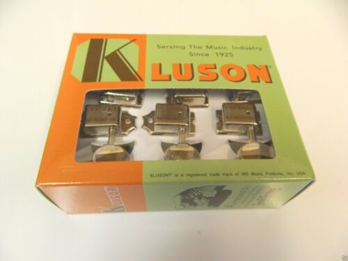 GENUINE KLUSON SUPREME KTS-6B-NM 6 IN LINE OVAL METAL BUTTON NICKEL RH