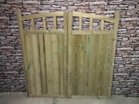 Wooden Drive Way Half Curve Tall Gates Bespoke Wooden Drive Way Gates (pair/set)