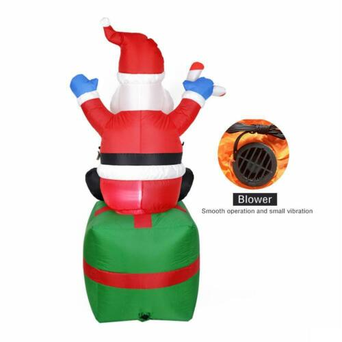6ft Christmas Inflatable Santa Claus Outdoor Xmas New Year Yard Party Decoration