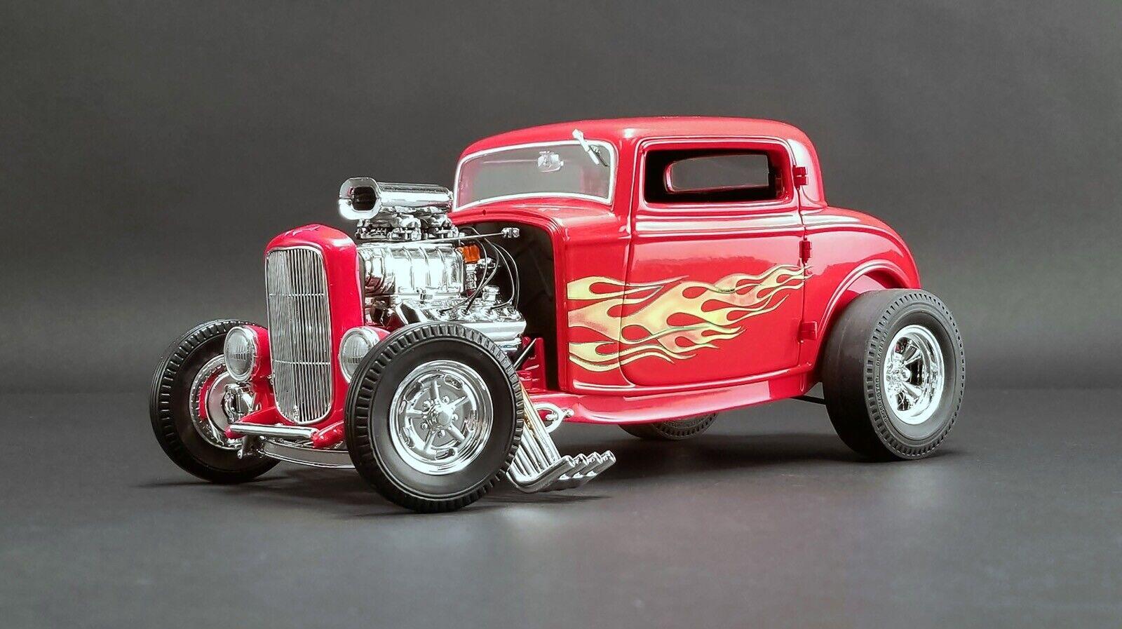 1932 1 18 Ford 3-window Coupe The Lanzallamas Acme por Pedido Le MIB